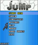Jump: Free Running J2ME Main menu