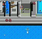 Crisis Force NES Flying over a city