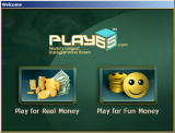 Play for free or for real money