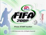 FIFA 2000: Major League Soccer PlayStation Title Screen
