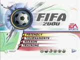 FIFA 2000: Major League Soccer PlayStation Main Menu