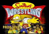 The Simpsons Wrestling PlayStation Title Screen