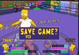 The Simpsons Wrestling PlayStation Save Game