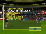 This Is Football PlayStation Pause Menu