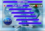 World Championship Snooker PlayStation Main Menu