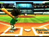 Wii Sports Wii Pitcher is tired (notice the ! over head) usually means down the middle fast ball