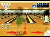 Wii Sports Wii Bowling alignment side to side of lane