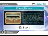 Wii Sports Wii Practice bowling power throws