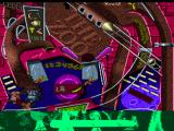 Extreme Pinball PlayStation Monkey Mayhem - Traveling through the top track.