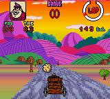 Wacky Races Game Boy Color Shooting Fireballs