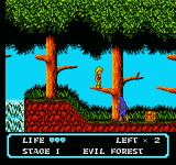 Moon Crystal NES Standing on a tree branch