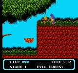 Moon Crystal NES Attacking an enemy
