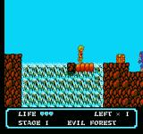 Moon Crystal NES Jump before the platform collapses