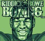 Riddick Bowe Boxing Game Boy Loading screen