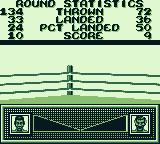 Riddick Bowe Boxing Game Boy The stats after 1 round.