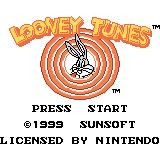 Looney Tunes Game Boy Color Title screen