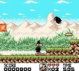 Looney Tunes Game Boy Color You either stomp enemies or sling this boomerang Frisbee at them.