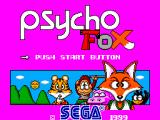 Psycho Fox SEGA Master System Title Screen