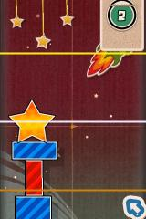 Finger Physics iPhone Build as high as possible in this level (gold bar is the top).