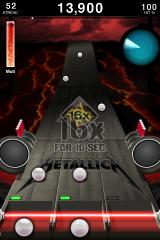 Tap Tap Revenge: Metallica iPhone Activated the 16x-power-up.