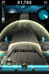 Tap Tap Revenge: Metallica iPhone The shield-power-up slows the balls down.