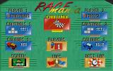 Race Mania DOS Main menu, reminds me of the Lotus Turbo Challenge menu