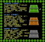 Rad Racket: Deluxe Tennis II NES Select a playing surface