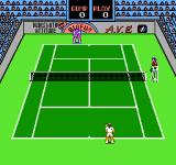 Rad Racket: Deluxe Tennis II NES Starting a game