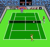 Rad Racket: Deluxe Tennis II NES About to serve