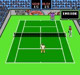 Rad Racket: Deluxe Tennis II NES The umpire makes a call