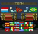 Hat Trick Hero 2 SNES Select a national team