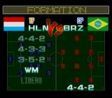 Hat Trick Hero 2 SNES Select formation