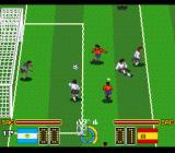 Hat Trick Hero 2 SNES Spain tries a shot at the goal
