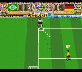 Hat Trick Hero 2 SNES A corner kick for Germany