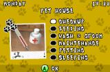 Paws & Claws: Best Friends - Dogs & Cats Game Boy Advance Main menu. Choose what to do with your pet.