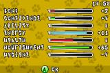 Paws & Claws: Best Friends - Dogs & Cats Game Boy Advance Your pet's stats so far.