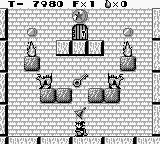Solomon's Club Game Boy Level 1 room 3, grab the bell to release a fariy
