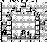 Solomon's Club Game Boy Level 1 room 4, the door marked with IN is a store