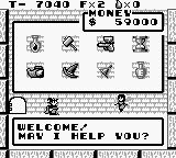 Solomon's Club Game Boy Level 1 room 4, inside the store