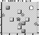 Solomon's Club Game Boy Level 1 room 6, hit by a spark, lose a life