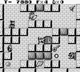 Solomon's Club Game Boy Level 1 room 7, get the E shaped wing to go to a secret room