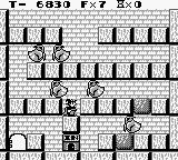 Solomon's Club Game Boy Level 1 room 8, stay down for the floating ghosts