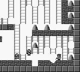 Hyper Lode Runner Game Boy Level 3: zapping a block