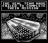 Navy Seals Game Boy Game over screen