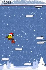 Doodle Jump iPhone Using a jet pack is a good way to get higher fast.