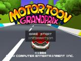 Motor Toon Grand Prix PlayStation Main menu