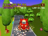 Motor Toon Grand Prix PlayStation Jumping and collecting a power-up.