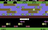 Frogger Commodore 64 A frog on the log (Parker cartridge version)