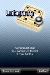 Labyrinth iPhone Finished one of the 10.000 or so levels.