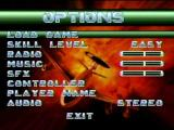 Independence Day SEGA Saturn Game options
